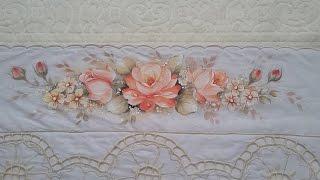 Pintura em Tecido – Aprenda Pintar Rosas, Botões e Folhas