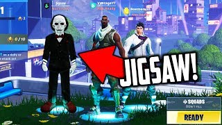 JIGSAW HACKED INTO OUR FORTNITE LOBBY.... (Scary Fortnite Video)