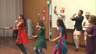 Непальский танец. Nepali culture night. Goettingen.wmv