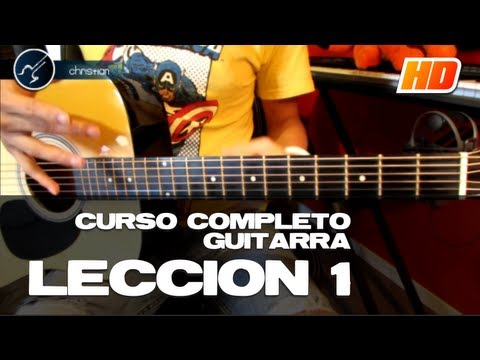 "Cómo tocar Guitarra Principiantes ""LECCIÓN 1"" (HD) Guitarra Acústica CURSO COMPLETO - Christianvib from YouTube · Duration:  6 minutes 16 seconds"