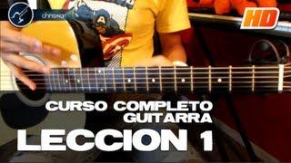 "Cómo tocar Guitarra Principiantes ""LECCIÓN 1"" (HD) Guitarra Acústica CURSO COMPLETO - Christianvib"
