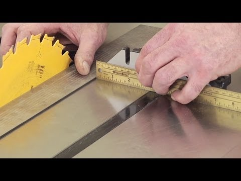 Woodworking Tips: Table Saw - Check Parallelism - Youtube