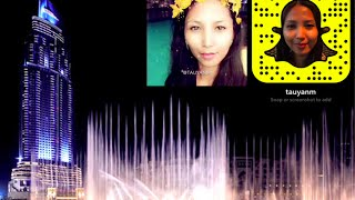 The Dubai Mall Dancing Fountain via Snapchat #Vlog | @tauyanm
