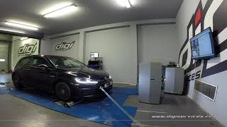 VW Golf 7 2.0 tdi 184cv DSG Reprogrammation Moteur @ 220cv Digiservices Paris 77 Dyno