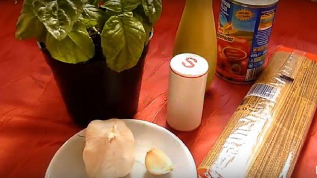 Спагетти с Помидорами Паста с Томатами и Базиликом Итальянский рецепт