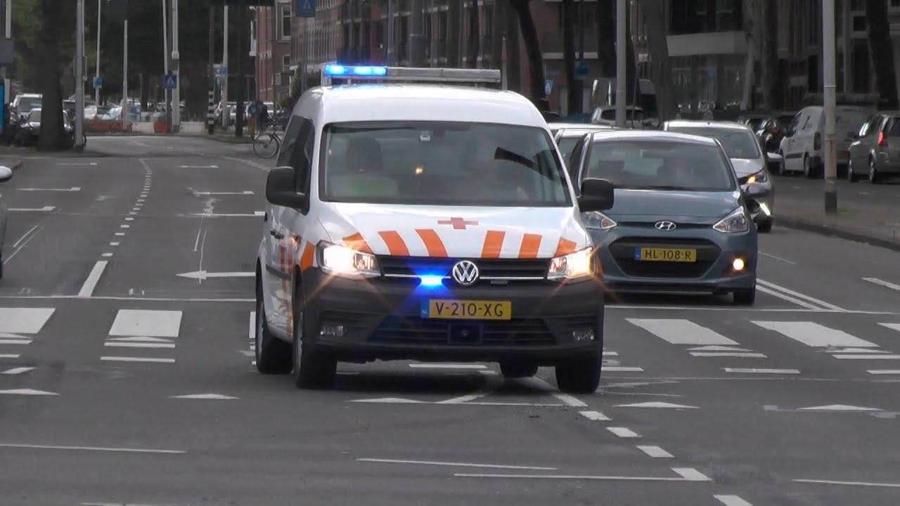 Sanquin en Ambulance kruisen elkaar met spoed in Rotterdam