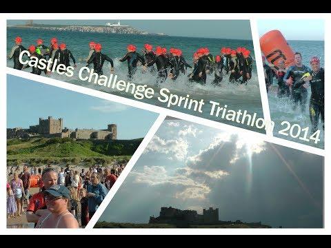 Castles Challenge Sprint Triathlon 2014 (features swim,bike and run)