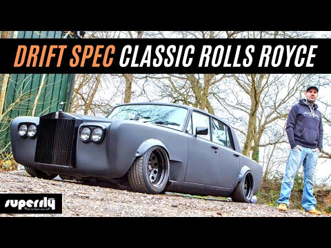 On set with Shane Lynch and his Drift Rolls Royce