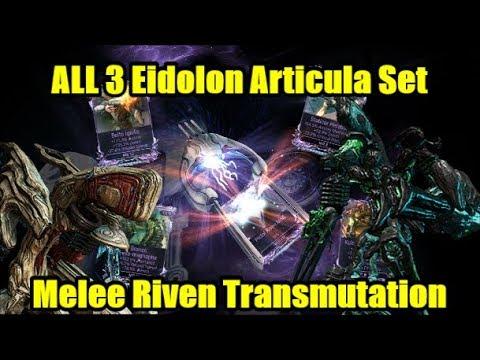 Warframe Melee Riven Transmutation & Eidolon Articula Teralyst Gantulyst Hydrolyst