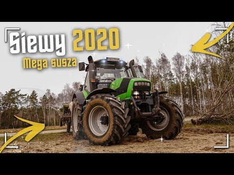Pustynny Siew Owsa 2020 ! ✔ Deutz-Fahr Agrotron M640 & Amazone D7 ☆ Sucho Jak Na Pustyni ?! [WIOSNA]
