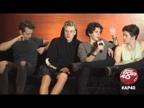 The Vamps chat to Dom Lau on Asia Pop 40 at the Hard Rock Cafe, Singapore