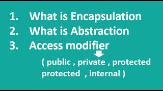 C# In Urdu/Hindi Encapsulation Abstraction Access Modifier Lecture11