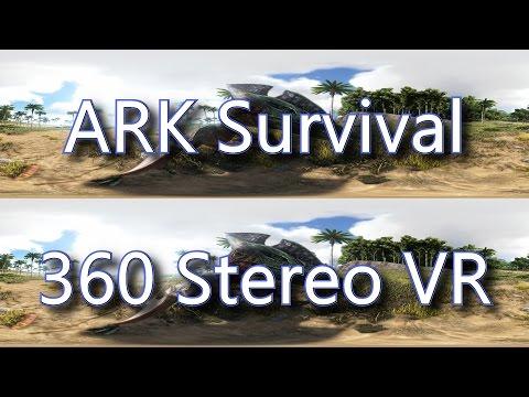 Ark Survival Dinosaurs in 360 Stereo VR – HUGE!