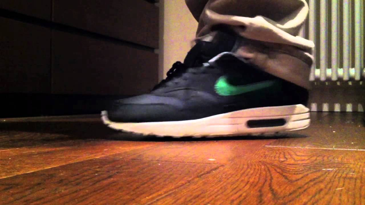 new arrivals 825d5 bb17d Nike Air Max 1 ACG Victory Green Black On Feet - YouTube