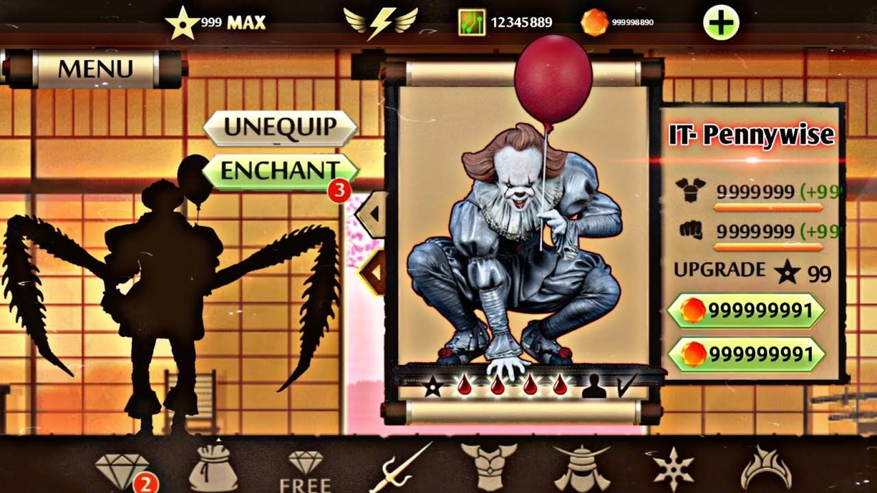 Download Shadow Fight 2 IT- Pennywise | Free Download