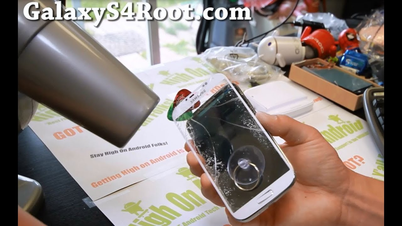 how to replace screen glass only on galaxy s4   youtube