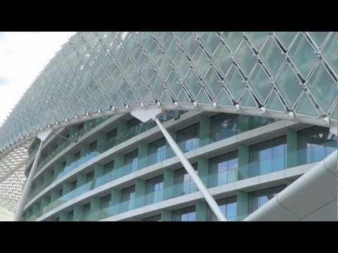 Abu Dhabi,Yas Island, UAE,Viceroy-Hotel, Formula 1 Circuit. (HD)