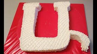 Խմորեղեն Ա տառի տեսքով торт буква из бисквита cake letter biscuit
