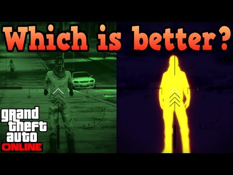 Make Night scope VS Thermal scope! - GTA Online Pictures