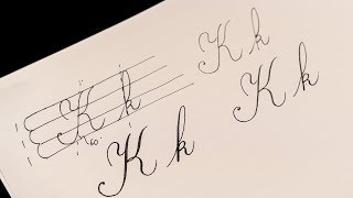How to Write K Copperplate script Calligraphy sub https://www.youtu...