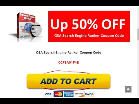 GSA Search Engine Ranker Coupon Code