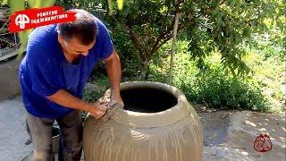 Как изготавливают национальный тандыр в Таджикистане