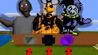 Minecraft PE : DO NOT CHOOSE THE WRONG SECRET BASE! (Brute Boris, Granny & Jevil DELTARUNE)