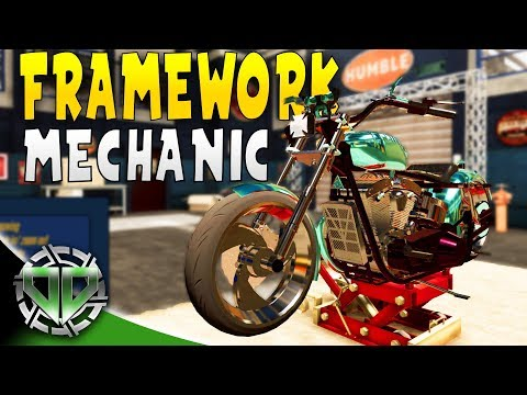 Framework Repair : MOTORBIKE GARAGE MECHANIC SIMULATOR Gameplay
