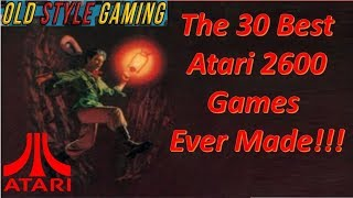 The 30 Best Atąri 2600 Games Ever Made!!! (Nostalgia Overload)