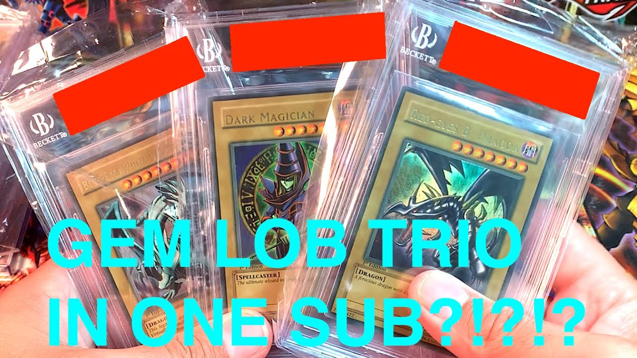 MUST WATCH $35K+ BGS RETURN!! GEM WAVY BLUE EYES, RED EYES, & DARK MAGICIAN LOB 1st?!?!?! INSANITY!