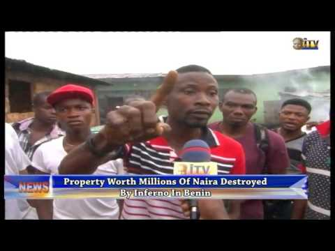 Property worth millions of naira destroyed by inferno in Benin