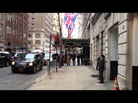 Prince William arriving at the Carlyle Hotel NYC Dec 2014