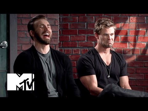 Chris Evans & Chris Hemsworth Eat Doritos | MTV News