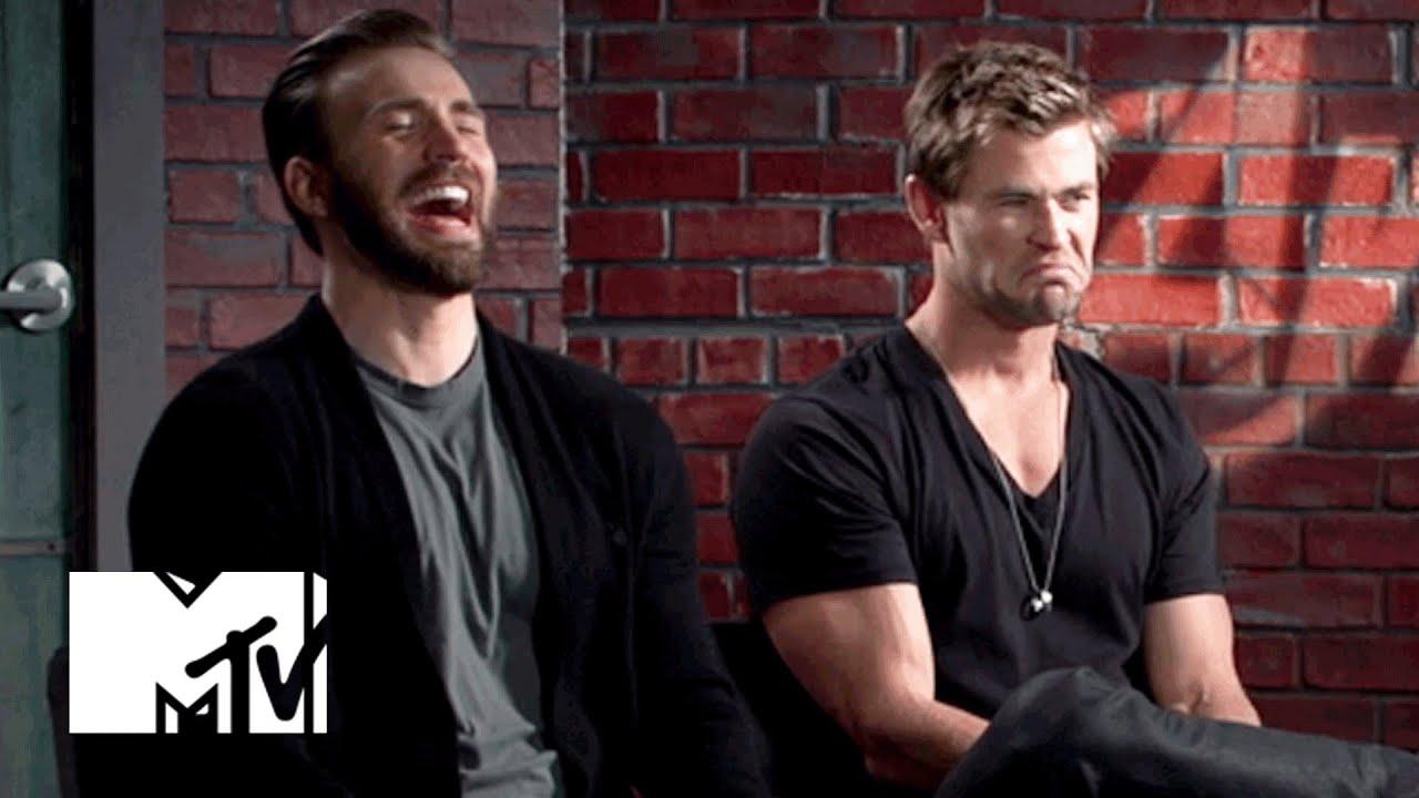 Human Dorito Chris Evans Chris Hemsworth Have The Best Time Of
