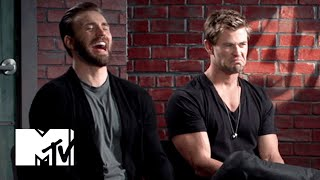 Chris Evans & Chris Hemsworth Eat Doritos | MTV News