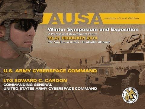 2014 AUSA Winter Symposium - Lt. Gen. Edward C. Cardon - U.S. Army Cyberspace Command