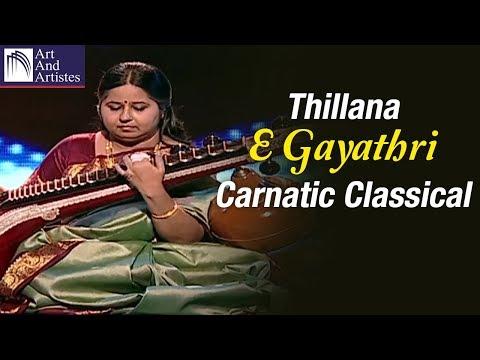 E Gayathri Veena | Thillana | Raag Brindavani | Carnatic Classical | Instrumental | Art and Artistes