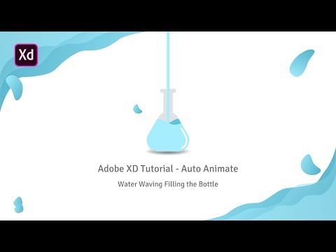 Adobe XD Tutorial - Auto Animate Water Filling the Bottle thumbnail