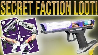 Destiny  2 Warmind. HIDDEN FACTION WEAPONS!! (Beast Side  Arm and New Faction Loot)