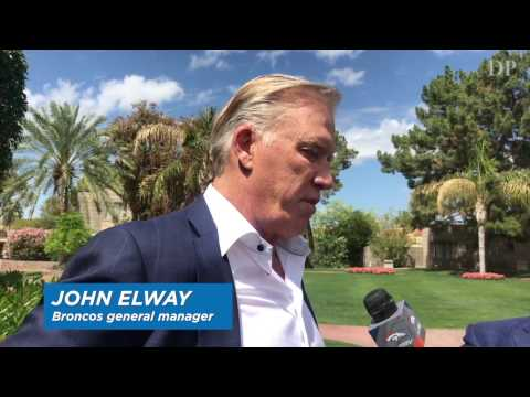 Broncos GM John Elway talks about the Raiders and quarterbacks at the NFL owners' meeting