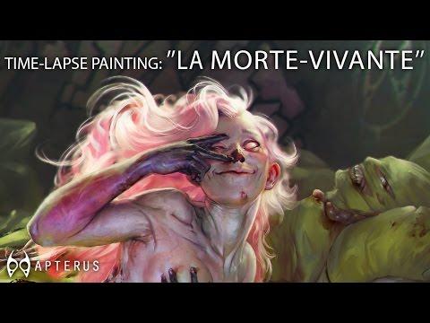 """speed painting: """"La morte vivante"""""""