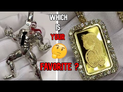 TRAXNYC QUICK REVIEW SILVER VENUM PENDANT VS SUISSE GOLD  BAR PENDANT