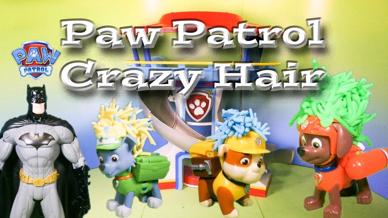 Paw Patrol Silly Batman Hair Cut A Funny Toy Parody Youtube