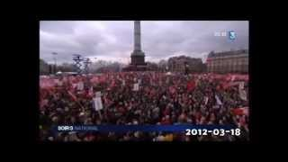 Enormous meeting of the French Left Front in Paris (subtitled)