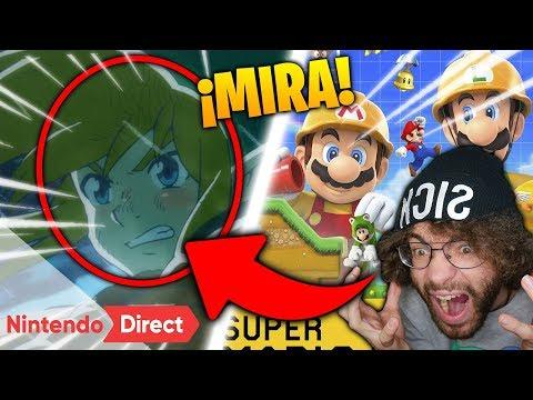 ESTA fue mi REACCIÓN al NINTENDO DIRECT 🤐 ¡Super MARIO MAKER 2 y ZELDA!