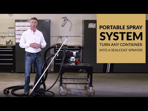 Portable Spray System | Turn Any Container Into A Sealcoat Sprayer
