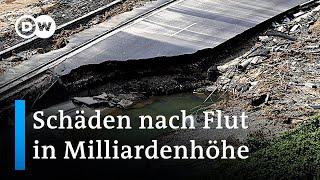 Nach der Flut-Katastrophe: Wer zahlt die Schäden in Milliardenhöhe? | DW Nachrichten
