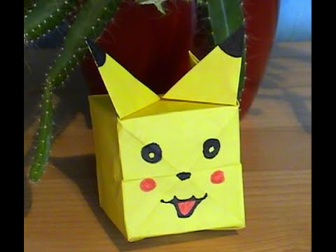 tuto pliage origami pickachu facile youtube. Black Bedroom Furniture Sets. Home Design Ideas