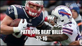 N.E. Patriots Beat Buffalo Bills 37-16 Steve Buckley Reporting