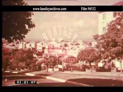 Perth, Western Australia, mid 1950's.  Archive film 94532